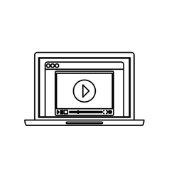Online video media vector image