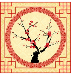 oriental style painting vector image vector image