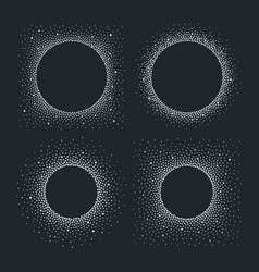 original circle dotty frames spray background vector image