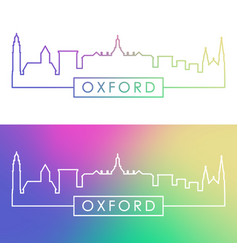 oxford ohio skyline colorful linear style vector image