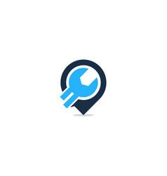pin fix and repair logo icon design vector image