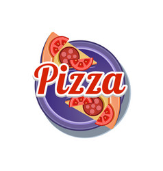 pizza sticker vector image