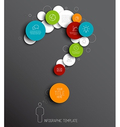 Question mark - dark abstract circles infographic vector