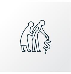 retirement planning icon line symbol premium vector image
