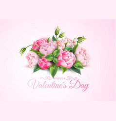 rose flower bouquet valentine day realistic vector image