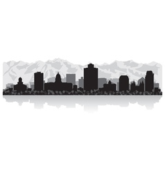 Salt Lake city USA skyline silhouette vector