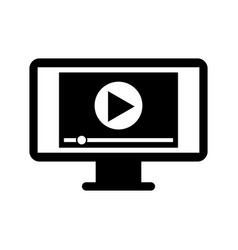 screen video player for web and internet media vector image