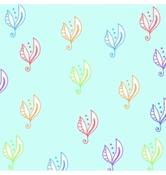 Seamless floral pattern for fabrick or babyroom in vector image
