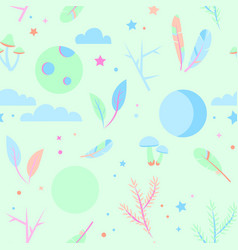 seamless pajama pattern pastel colors vector image
