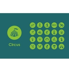 Set of circus simple icons vector image