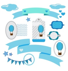 set of ribbons and memory cards vector image