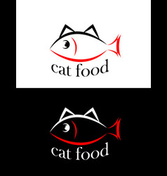 Set of sing or symbol of cat food isolated vector