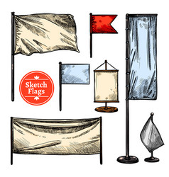 Sketch flags set vector