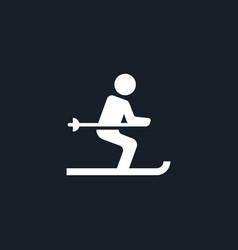 Ski icon simple vector