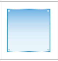 Sticker blue glass isolated object vector image