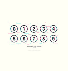 stock decorative numbers in round frames vector image