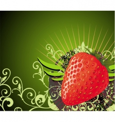strawberry design vector image