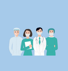 thank you doctors and nurses card working vector image
