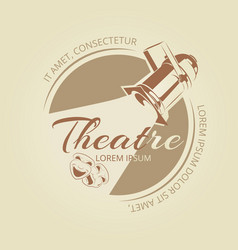 Theatre banner design - art badge with theatre vector