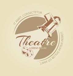 Theatre banner design - art badge with vector