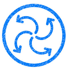 turbine rotation rounded grainy icon vector image