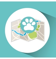 Veterinary map pin pointer design vector