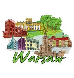 Warsaw doodles vector