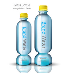 water bottle original shape realistic vector image