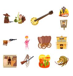 Wild and west logo set of vector