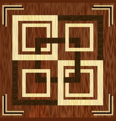 Wooden square inlay light and dark wood patterns vector