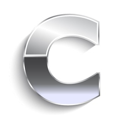 C metal font vector image vector image