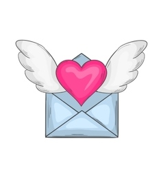 Email love icon vector image vector image