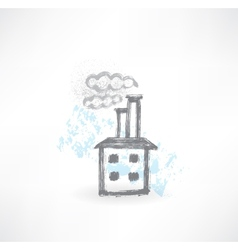 factory grunge icon vector image vector image