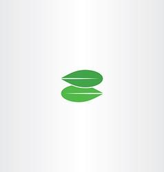 Green leaf letter z eco logo bio icon vector