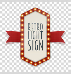 retro light sign with space for text vector image vector image
