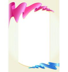 ribbon 03 vector image vector image