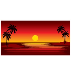 tropical islands with palm trees vector image