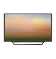 tv screen flat lcd led vector image