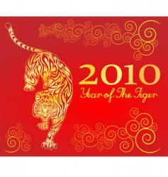 Year of the tiger vector