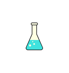 chemical solid icon laboratory glass sign vector image