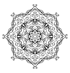 Floral ornament arabesque hand drawn sketch for vector image