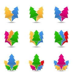 Icons of trees vector image vector image