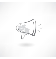 megaphone grunge icon vector image