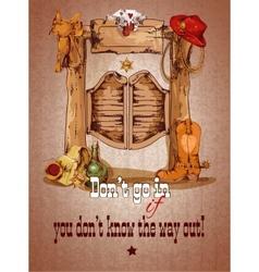 Wild west saloon poster vector image