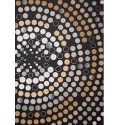 Abstract Dotted Circle Background vector image