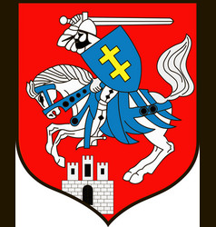 coat of arms of siedlce city in masovian vector image