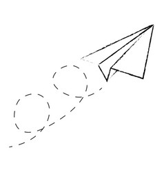 isolated origami airplane vector image