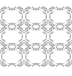 seamless black pattern on a white wallpaper vector image vector image