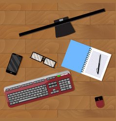 workplace office vector image