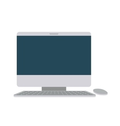 computer desktop isolated icon design vector image vector image